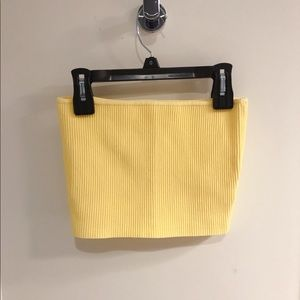 Brandy Melville yellow crop top